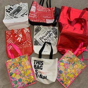 Lululemon Athleta Lilly REI Reusable Bag Bundle